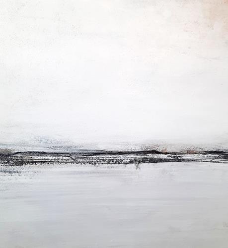 Conny Wachsmann, Ausbruch der Gedankden II - weisses Bild, Landschaft: Ebene, Art Déco