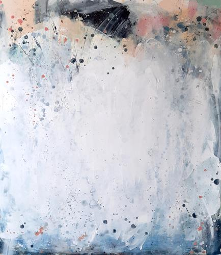 Conny Wachsmann, Frühlingsgefühle - weisses Bild, Abstraktes, Art Déco