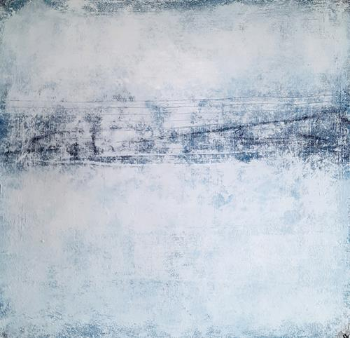 Conny Wachsmann, Berg und Talbahn, Landschaft, Action Painting
