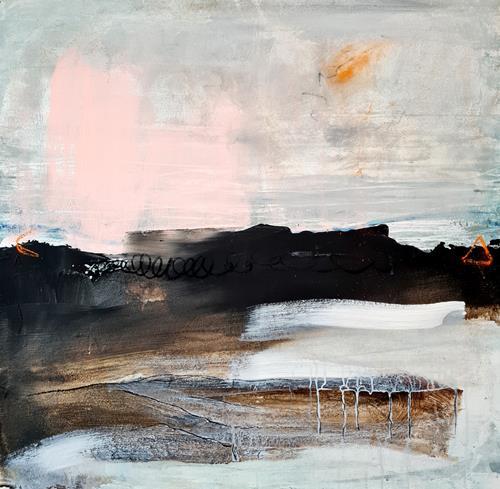 Conny Wachsmann, Auf zum nächsten Zeltplatz, Abstraktes, Art Déco, Expressionismus