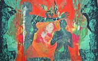 Monika-Ploghoeft-Menschen-Paare-Fantasie-Moderne-Andere-Neue-Figurative-Malerei