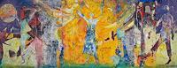 Monika-Ploghoeft-Menschen-Gruppe-Gefuehle-Freude-Moderne-Andere-Neue-Figurative-Malerei