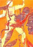 Monika-Ploghoeft-Menschen-Gruppe-Gefuehle-Liebe-Moderne-Andere-Neue-Figurative-Malerei