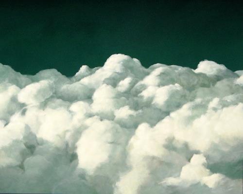 Jürgen Büse Filzen, Große Stille, Natur: Luft, Bewegung, Gegenwartskunst, Expressionismus