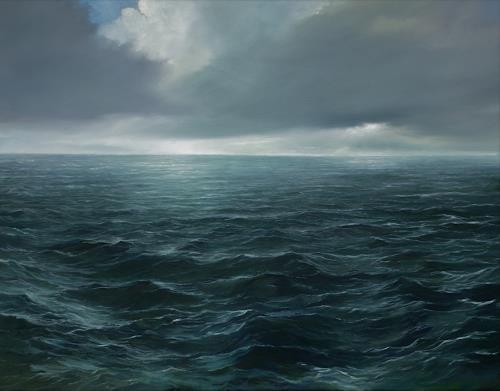 Jürgen Büse Filzen, Horizont  XII, Landschaft: See/Meer, Natur: Wasser, Moderne, Expressionismus