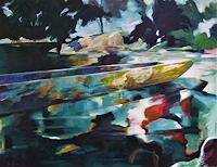 Juergen-Buese-Filzen-Landschaft-Sommer-Landschaft-See-Meer-Moderne-expressiver-Realismus