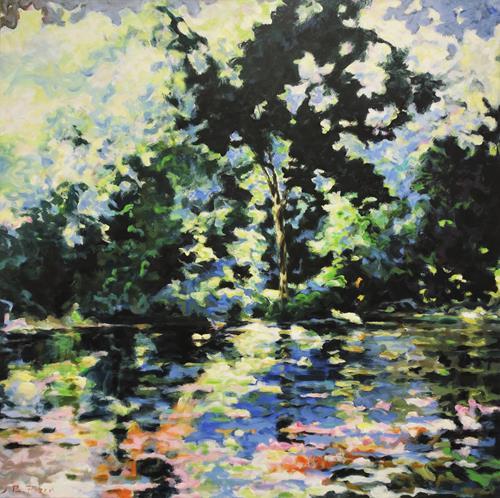 Jürgen Büse Filzen, Sommer See, Landschaft, Natur, Impressionismus, Expressionismus