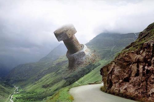 Albert Gehret, SchraubenPanorama, Landschaft: Berge, Gesellschaft, Postsurrealismus, Abstrakter Expressionismus