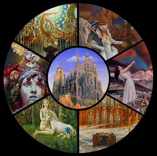 . Angerer der Ältere, Künstlergruppe, Fantasie, Fantasie, Manierismus, Abstrakter Expressionismus