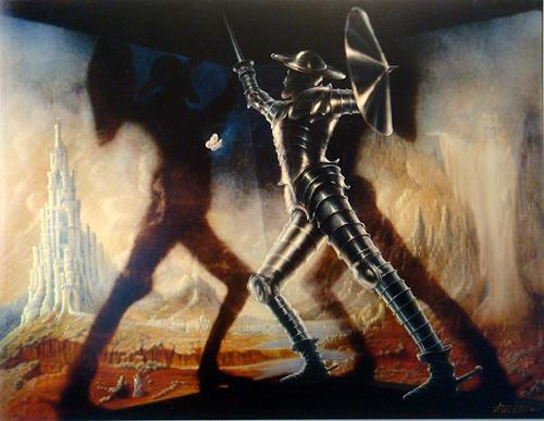 . Angerer der Ältere, Don Quijote © Angerer der Ältere, Architektur, Fantasie, Andere, Abstrakter Expressionismus