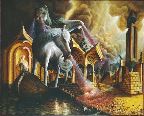 . Angerer der Ältere, Trojanisches Pferd, Geschichte, Mythologie, Manierismus, Abstrakter Expressionismus
