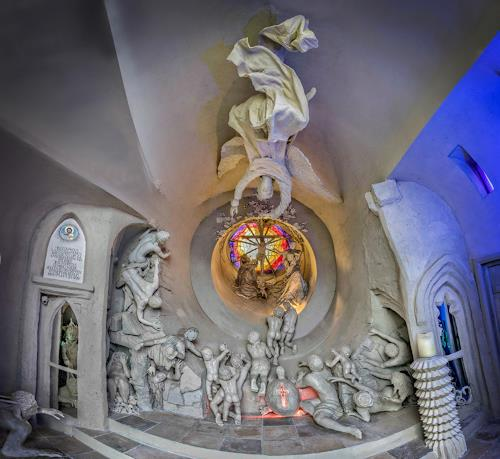 . Angerer der Ältere, Erlöserkapelle - Panorama innen (Foto E.Hillisch), Religion, Glauben, Gegenwartskunst