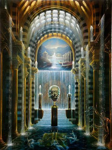 . Angerer der Ältere, Goldene Quell, Fantasie, Architektur, Gegenwartskunst