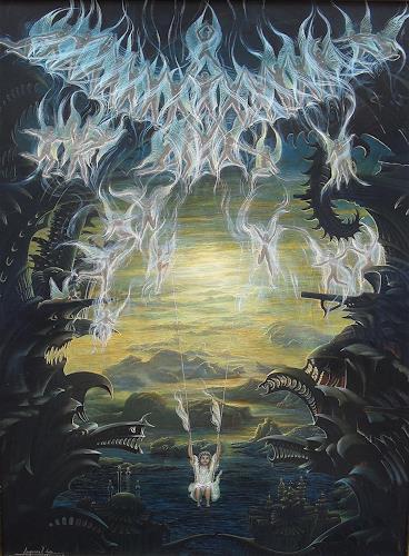 . Angerer der Ältere, Zauber der Unschuld, Fantasie, Poesie, Gegenwartskunst, Abstrakter Expressionismus