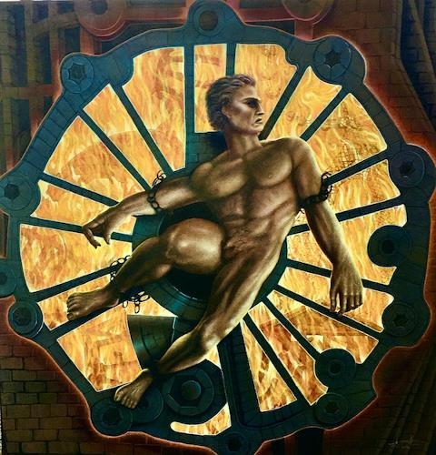 . Angerer der Ältere, Der gefesselte Prometheus, Mythologie, Menschen: Mann, Gegenwartskunst