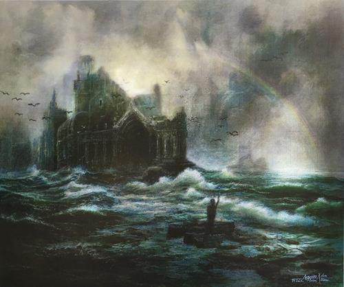 . Angerer der Ältere, Auf verlorenem Posten, Landschaft, Fantasie, Gegenwartskunst, Abstrakter Expressionismus