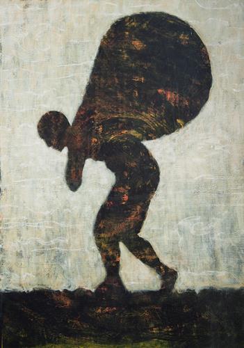 Christoph M. Frisch, Monddieb, Menschen: Mann, Fantasie, Gegenwartskunst, Abstrakter Expressionismus