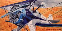 Gregory Larsen Art, Biplane Blue