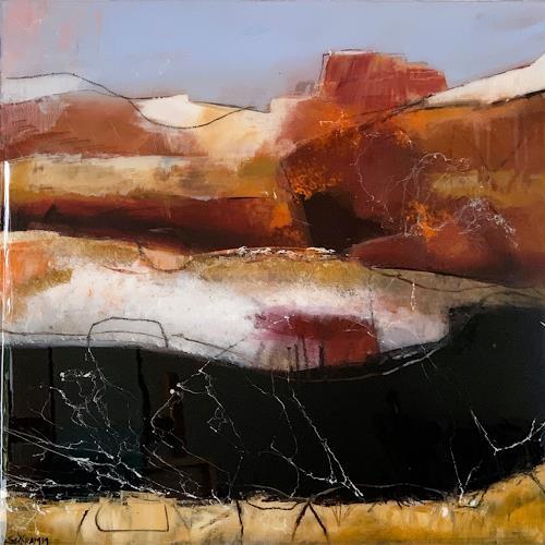 Sabine Schramm, Abstrakte Komposition mit Kunstharzveredelung, Abstraktes, Informel, Abstrakter Expressionismus