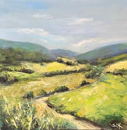 Sabine Schramm, o.T. (190706), Landschaft: Sommer, Gegenwartskunst, Expressionismus