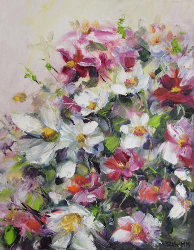 Sabine Schramm, Blumenkomposition )180604), Pflanzen: Blumen, Gegenwartskunst