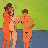 Peter-Klint-Akt-Erotik-Akt-Frau-Menschen-Gruppe-Gegenwartskunst--Gegenwartskunst-