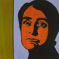Peter-Klint-Menschen-Frau-Menschen-Gesichter-Gegenwartskunst--Gegenwartskunst-
