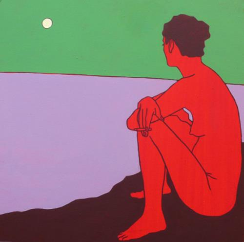 Peter Klint, O/T, Akt/Erotik: Akt Frau, Menschen: Frau, Abstrakter Expressionismus