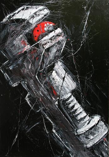 Dierk Osterloh, Man kann das Glück nicht erzwingen, Gesellschaft, Symbol, Neo-Expressionismus, Abstrakter Expressionismus