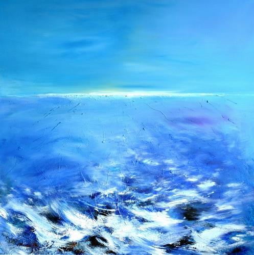 Franz Plahs, O/T, Landschaft: See/Meer, Natur: Wasser, Abstrakte Kunst, Expressionismus