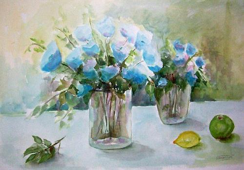 Gilberte Vermeulen, watercolor, Pflanzen: Blumen, Stilleben, Impressionismus