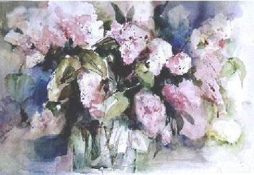Gilberte Vermeulen, lilacs, Pflanzen: Blumen, Impressionismus
