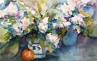 Gilberte-Vermeulen-Pflanzen-Blumen-Pflanzen-Blumen-Moderne-Impressionismus