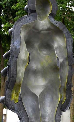 Ubbo Enninga, Night and Day, Diverse Menschen, Abstrakter Expressionismus