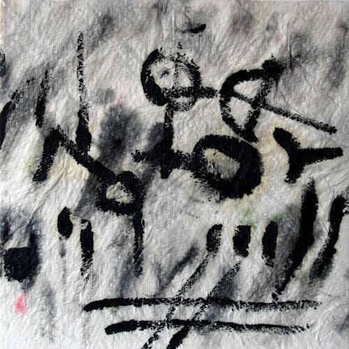 Jens Jacobfeuerborn, zwei in einem Boot, Abstraktes, Fantasie, Abstrakte Kunst
