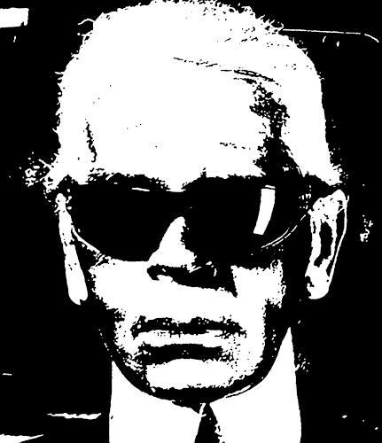 Jens Jacobfeuerborn, Karl Lagerfeld, Menschen: Gesichter, Menschen: Porträt, Pop-Art