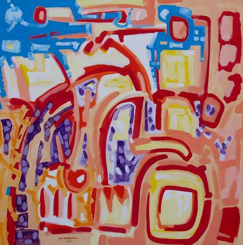 Jens Jacobfeuerborn, kleine blaue Wolke, Abstraktes, Fantasie, Abstrakte Kunst