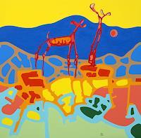 Jens-Jacobfeuerborn-Fantasie-Landschaft-Berge-Moderne-Pop-Art