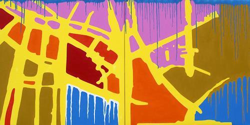 Jens Jacobfeuerborn, Die Arche ( 2- teilig ), Abstraktes, Fantasie, Pop-Art