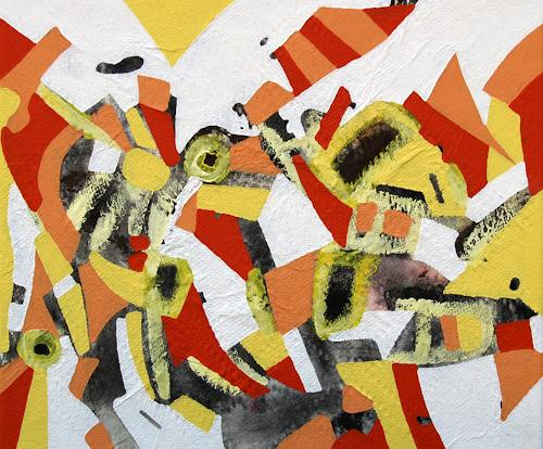Jens Jacobfeuerborn, Verstrahlt/1, Abstraktes, Fantasie, Abstrakte Kunst