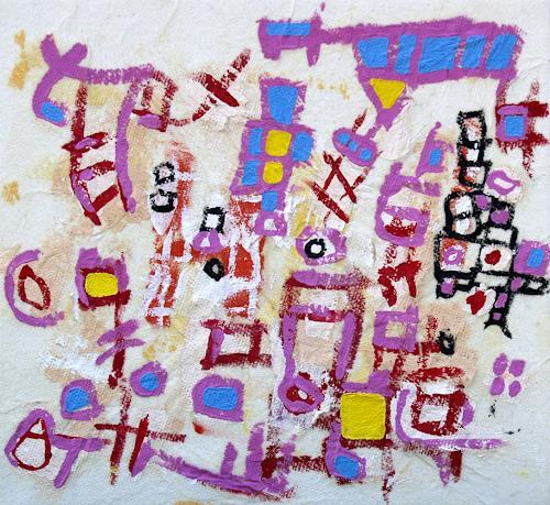 Jens Jacobfeuerborn, Zeichen 3, Abstraktes, Fantasie, Abstrakte Kunst