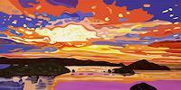 Jens-Jacobfeuerborn-Landschaft-See-Meer-Landschaft-Berge-Moderne-Pop-Art