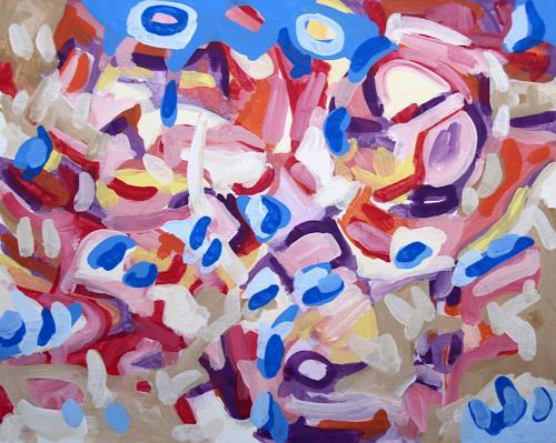 Jens Jacobfeuerborn, Variationen abstrakt (1-5) Nr.2, Abstraktes, Pop-Art
