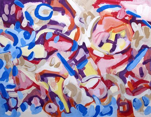 Jens Jacobfeuerborn, Variationen abstrakt (1-5) Nr.4, Abstraktes, Pop-Art