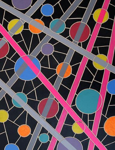 Jens Jacobfeuerborn, O.T. (Holzdruckstock), Abstraktes, Fantasie, Pop-Art