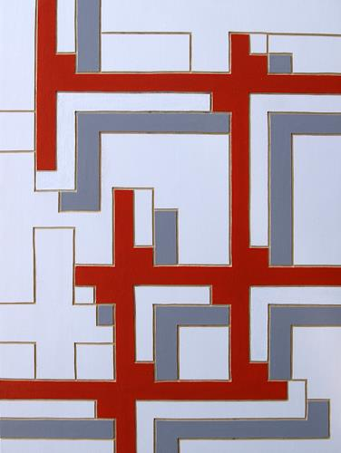 Jens Jacobfeuerborn, O.T. (Holzdruckstock), Abstraktes, Dekoratives, Konstruktivismus