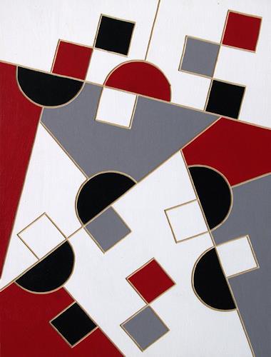 Jens Jacobfeuerborn, O.T. (Holzdruckstock), Abstraktes, Dekoratives, Konstruktivismus, Expressionismus