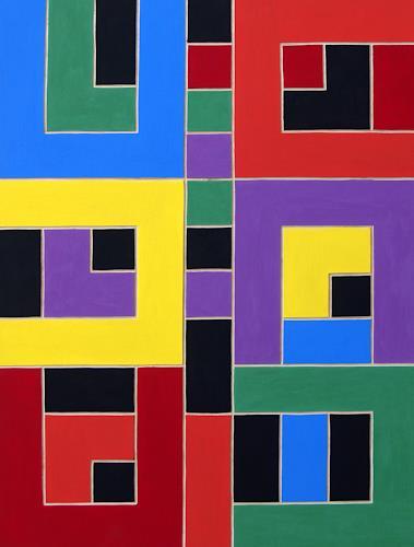 Jens Jacobfeuerborn, O.T. (Holzdruckstock), Abstraktes, Dekoratives, Konstruktivismus, Abstrakter Expressionismus
