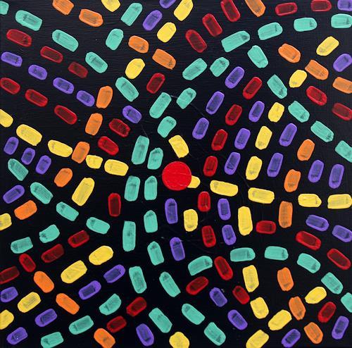 Jens Jacobfeuerborn, rush hour, Abstraktes, Fantasie, Abstrakte Kunst