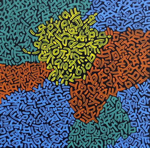 Jens Jacobfeuerborn, O.T., Abstraktes, Fantasie, Pop-Art